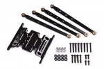 Axial Racing SCX-10 Dingo Aluminum Skid Plate & Linkage Set (Black)