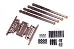 Axial Racing SCX-10 Dingo Aluminum Skid Plate & Linkage Set (Gunmetal)