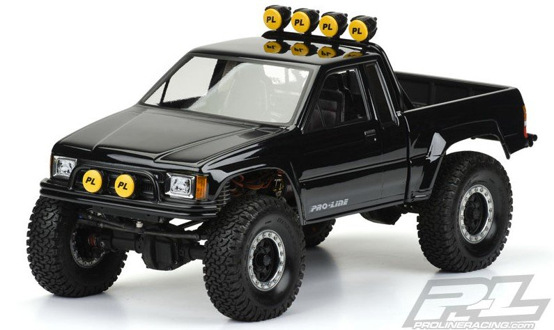 Pro-line #3466-00 | 1985 Toyota Hilux SR5 Clear Body (Cab & Bed) for SCX10 Trail Honcho 12.3 (313mm) Wheelbase